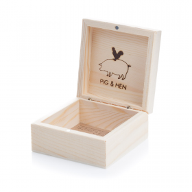 Your Pig & Hen bracelet will come in this little wooden box