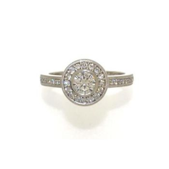 Diamond Surround Engagement Ring