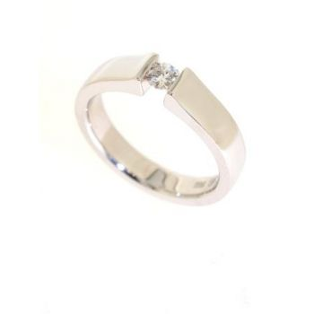 Single Stone, Tension Set, Diamond Ring