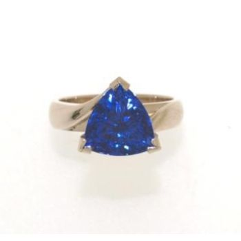 Trilliant Cut Tanzanite Ring