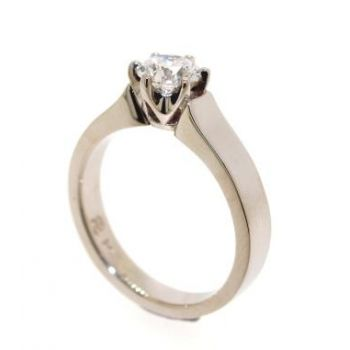 Single Stone, Diamond Set, Platinum Ring