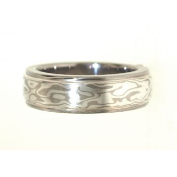 Palladium and Sterling Silver Mokume Gane Ring