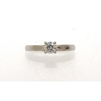 Single Stone, Diamond Set Engagement Ring